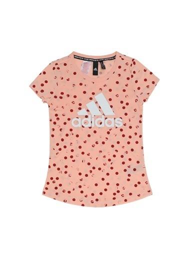 adidas Yg Mh Gra Tee Kız Çocuk Kısa Kol Tişört Renkli